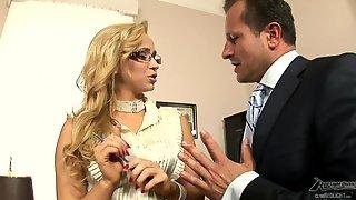 Hot Glamour Chick Aleska Diamond Office Sex