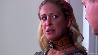 Blonde Mummy Cherie Deville Tied Gagged In A Straitjacket And Wheelchair Smoke