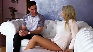 Guy Seduced By His Stepmother On A Gorgeous Bang On The Sofa...