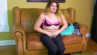First-timer Casting Has Rachel Gargle And Pummel POV For A Job