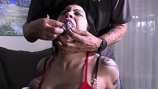 Busty Latina Babe Lady Bondage Porn Video