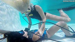 Wild Underwater Scuba Diving Fun With A Voracious Lesbian Vodichkina