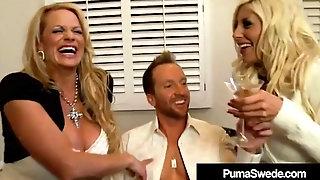 Swedish Star Puma Swede & Kelly Madison Blow Hubby!