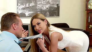 Smoking Hot Secretary Subil Arch Is Craving For A Huge Load Of Sperm