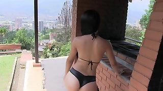 Busty Leather Bikini Luciana