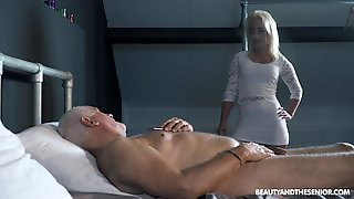 Sexy Teen Gives In To Old Fart And That Dude Still Has An Erection