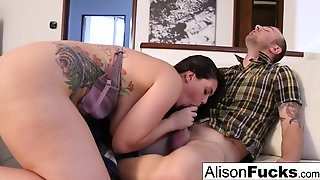 Alison Tyler Drains Chads Meaty Cock With Her Mouth!