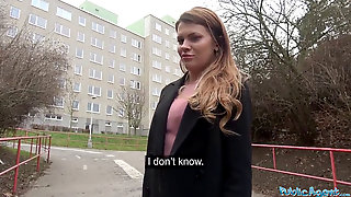 Public Agent Russian Shaved Vag Pounded For Cash