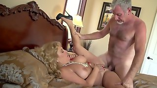 Blonde Granny Still In Great Shape For Sex With Skillful Lover