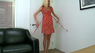 Amateur Blonde Is Called Over For Her Very First Nude Casting