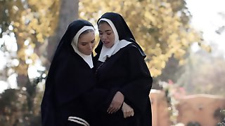 Lesbian Nuns Get Freaky With Each Other Outdoors