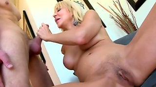 Blonde Mature Is Highly Aroused And Just Cant Wait For Young Meat