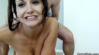 Big Tits Babe Gets Cumshot In Bathroom - Ava Addams