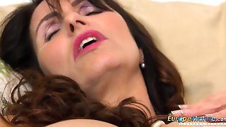 Euro MILF Exciting British Housewife Enjoy Office Fun