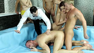 Dirty Bisexual Orgy In The Oil Pit With Sexy Brunette Kiara Dark