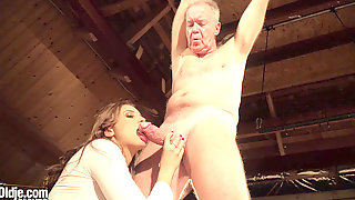Grandpa Trussed Up And Fucked By Teenage So Fucking Hot