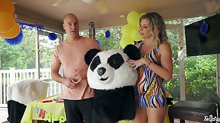 Dude Dressed As A Panda Bear Fucks Blonde Pornstar Cory Chase