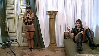 Debbie White And Peaches Johnson Love Playing With BDSM Equipment