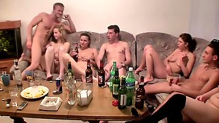 Sex-hungry Czech Chicks Drink And Get Naked At Student Party