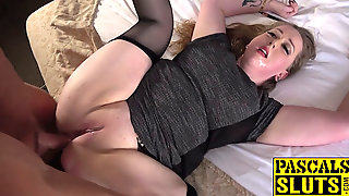 Submissive Chubby Woman Enjoys Nice Rough Sex Threesome