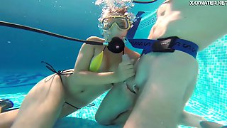 Wondrous Chick Named Lizzy Is Kinky Scuba Diver Riding Dick Underwater