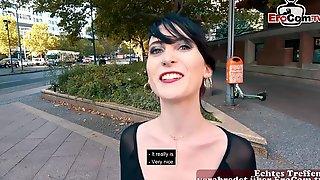 German Skinny Punk Student Teen Public Pick Up Street Casting For EroCom Date POV