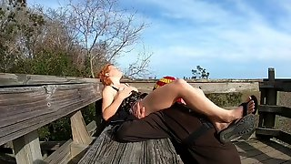 Horny While Hiking (Flashing, Public Sex And Facial)