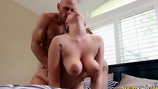 Johnny Sins Banged Busty Bitch Lena Paul On The Bed