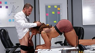 Stunning Hard Sex With The Ebony Secretary During Lunch Break