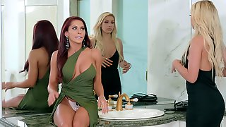 Carmen Caliente And Madison Ivy Having Fun With A Pink Dildo