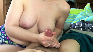 Big-titted Wifey Handjob Compilation