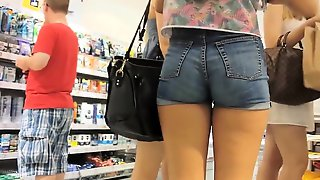SEXY BLUE SHORT SHORTS SEHR