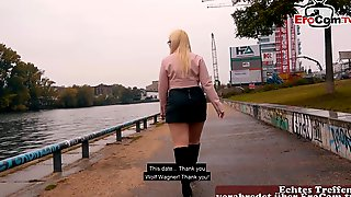 German Chubby Blonde Teen Mariella Sun Public Pick Up Casting