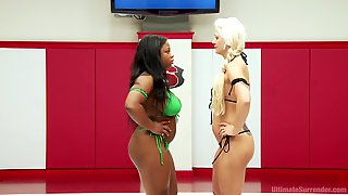 After A Long Day Yasmine Loven Wants To Punish Her Lover With Green Strapon