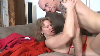 Turned On Bald Hubby Keeps Fucking His Slutty Amateur Wife Nonstop