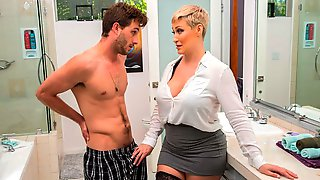 Stunning Short-haired MILF Ryan Keely Takes A Hard Young Dick