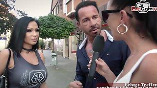 German Hot Brunette Have Outdoor Anal Casting