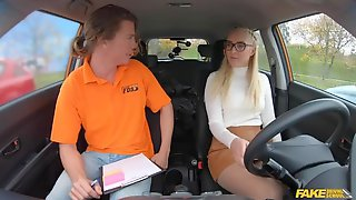 Driving School Lesson With Amaris Quickly Turns Into Dick Riding