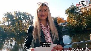 German Blonde Street Prostitute Real Public Pick Up EroCom Date Pov In Berlin