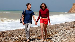 Gorgeous Teen With Small Tits Alex Diaz Gets Her Crack Fucked On The Beach