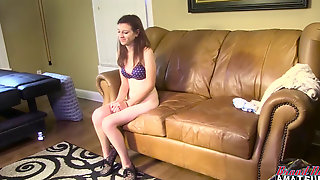Unexperienced In Audition Couch Interview Gets Fucked Fine