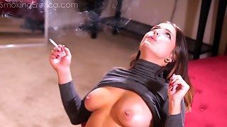 Smoking Fetish Scene With Dakota Rain