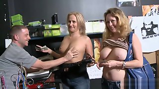 Sexy Ladies Convinced To Flash Boobies For Some Money Segment