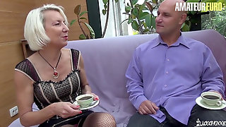 First-timer EURO - French Mature Anal Fucked By Tatted Guy