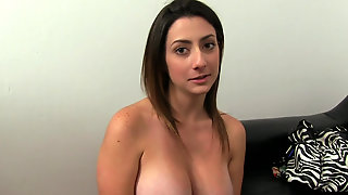 Real Amateur Tiffany Cross Goes To Couch Casting