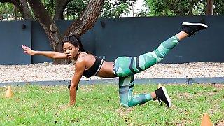 Dark Skinned Fitness Freak
