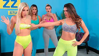 Sporty Hotties Abella Danger And Katana Kombat Fuck During The Workout