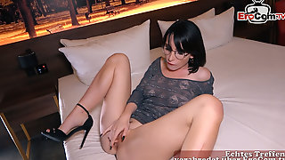 EROCOM.TV - German Young Skinny Student Teen Public Pick Up Street Casting EroCom Date