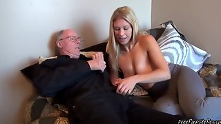 Horny Old Man Nailing Hot Blonde Teen