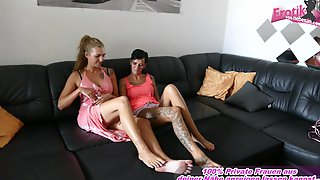 German Amateur Homemade Threesome Milf And Teen
